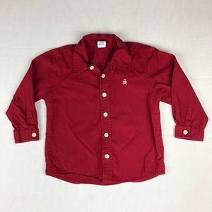 GAP Red Long Sleeve Button Down Size 3xl